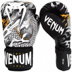 Gants de boxe Venum Dragon's Flight - Noir/Blanc