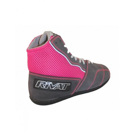 CHAUSSURE RIVAT BOOM LADY LIGHT ( anthracite / fuchsia )