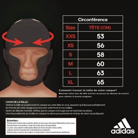 Casque de boxe compétition amateur adidas Arts Martiaux Lyonnais et Sports de Combat