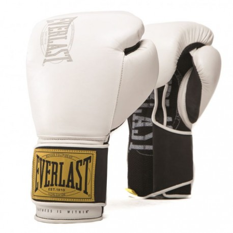 Gants de boxe Everlast 1910 Training - Blanc