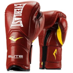Gants de boxe Everlast - Elite - Cuir / Red