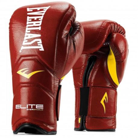 Gants de boxe Everlast - Elite - Cuir / Red