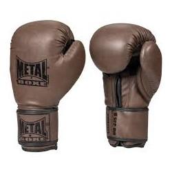 "Gants d'entrainement ""steel"" brown Metal Boxe"